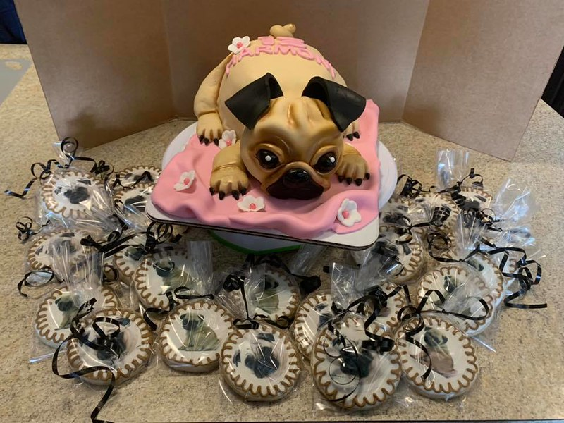 Dog Shape Cake by Mama D's Cakes