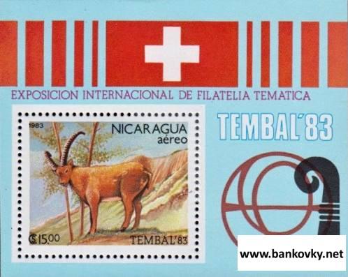 Známky Nikaragua 1983 TEMBEL 83, hárček MNH