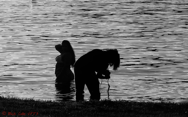 Silhouette of a Photo Shoot