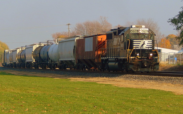 GP38-2 leading the local at Kendallville Indiana