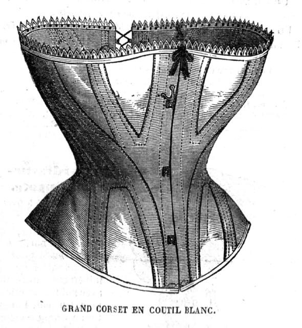 La Mode Illustrée, corset victorien, novembre 1869