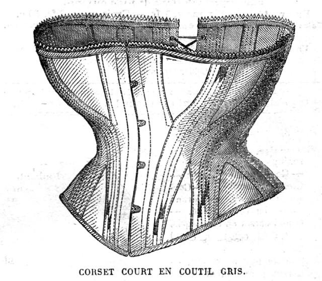 Corset court, La Mode Illustrée