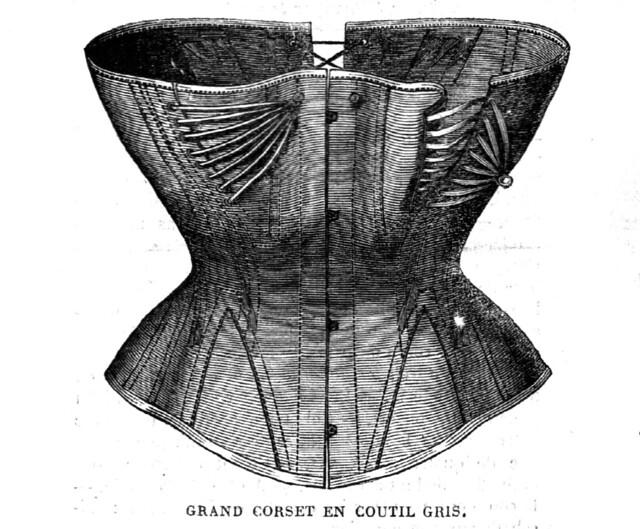 La Mode Illustrée, corset d'allaitement, 7 novembre 1869