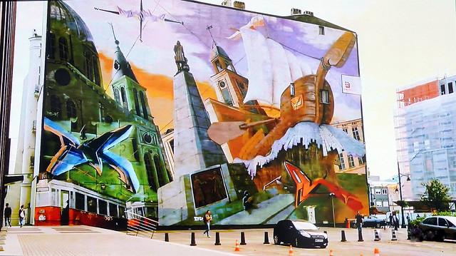Mural in Lodz, Poland