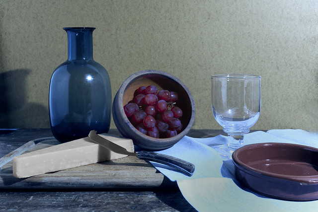 table after Morandi