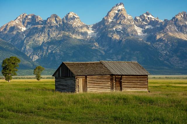 Basic living in an idyllic setting - Mormon Row, Wyoming