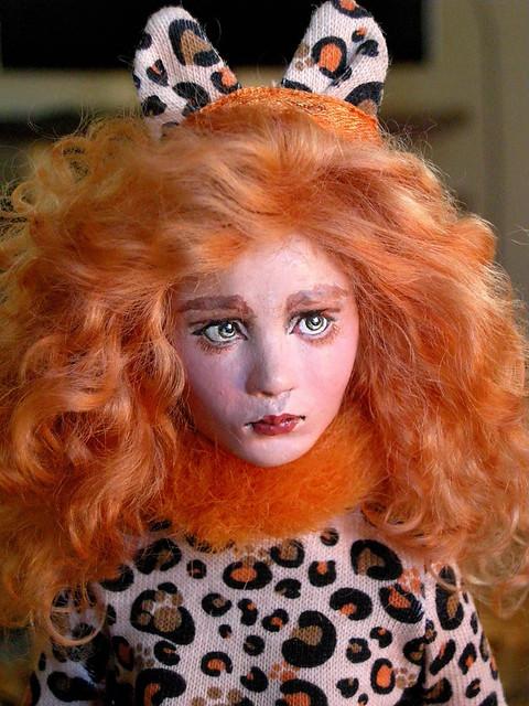 Gretchen as Leopard Woman.