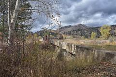 Abandon Milwaukee Road Bridge near Bonita Montana