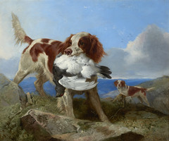 Oil on canvas, 'On the Moors', 1865, by Richard Ansdell RA