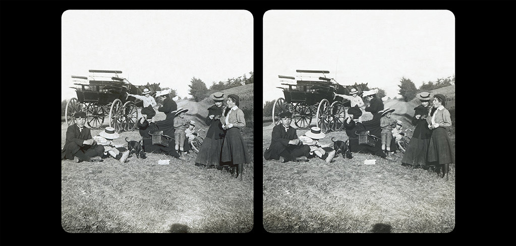 Small Picnic by the side of the road-01-September 1906-Riolas, Hte Garonne