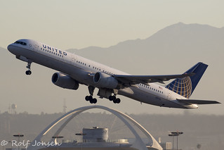 N19136 Boeing 757-200 United Airlines Los Angeles Airport KLAX 14.09-18