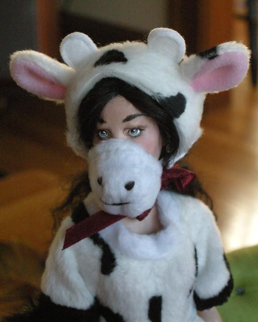 Kai as a Cow.