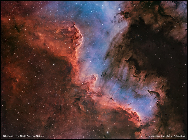 NGC7000 - The North America Nebula - HSO_RGB - BiColor