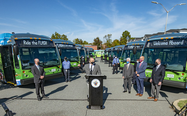 Flash BRT Launch Silver Spring