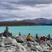NZ lake Pukaki Stone stack non zen