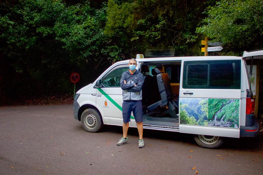 Taxi para el sendero de Marcos y Cordero en La Palma