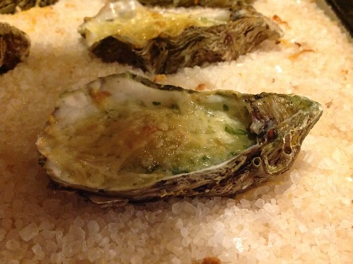 Gegratineerde oester...