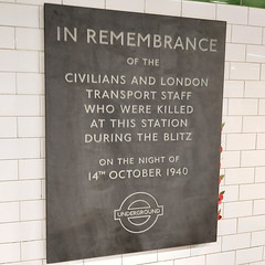 In Remembrance - Balham Underground Station