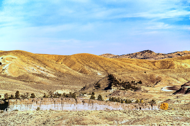 Sandstone Cliff Within Brown Hills near Cody