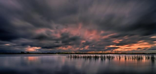Sonnenuntergang am Flögelner See