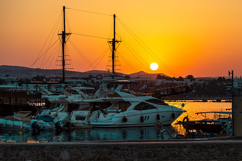 Cyprus sunset in a marina. Photographer Spotlight: Mathias Falcone