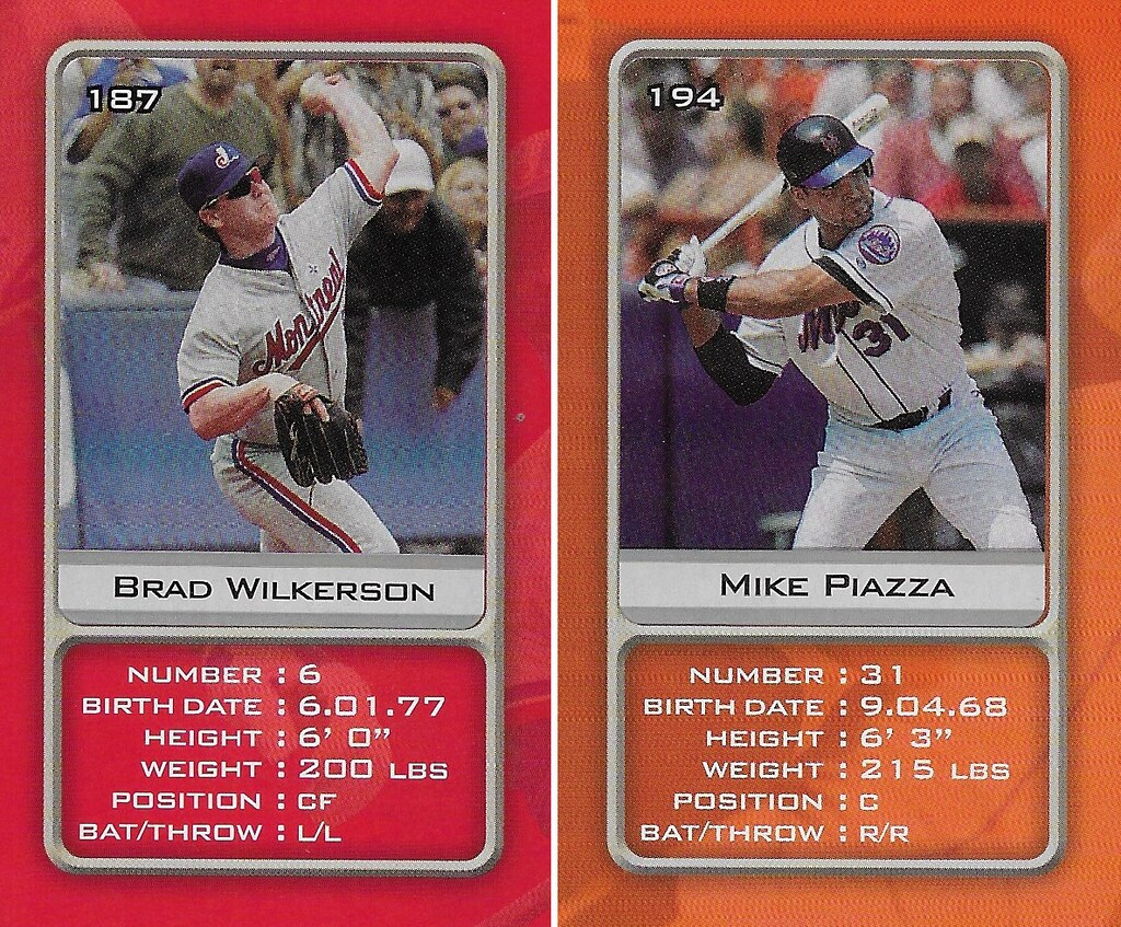 2003 Sports Vault MLB Stickers (Brad Wilkerson-Mike Piazza)