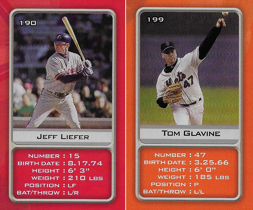2003 Sports Vault MLB Stickers (Jeff Liefer-Tom Glavine)
