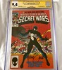 Last in this CGC Summer Signature Series: Marvel Secret Wars #8 with the origin of Spidey's black costume incl. Shooter, Beatty & Zeck's signatures. Even though it came out after the first appearance in ASM 252, I feel this is a more iconic cover & issue