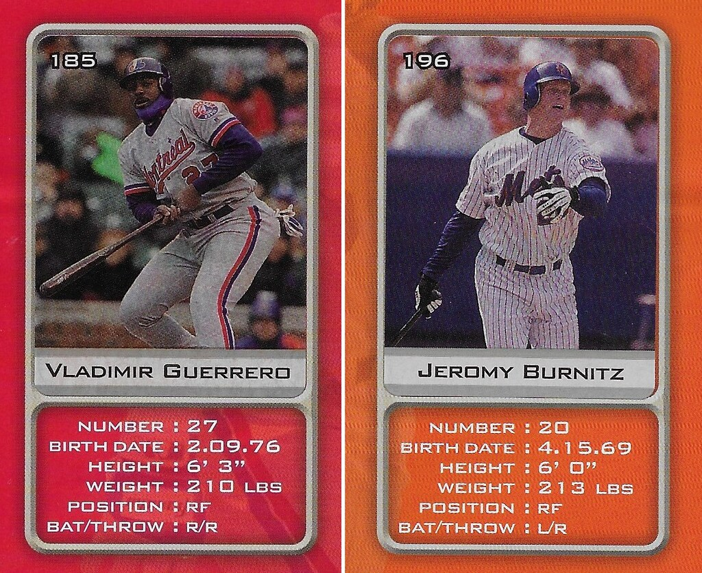 2003 Sports Vault MLB Stickers (Vladimir Guerrero-Jeromy Burnitz)