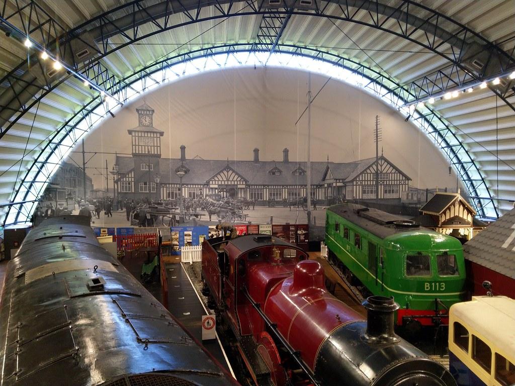 Kereta api dipamerkan di Museum Transportasi Ulster