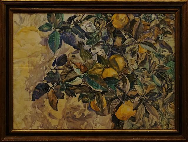 Anna Syberg (1870-1914) - Lemons, Pisa - 1913 - Watercolour