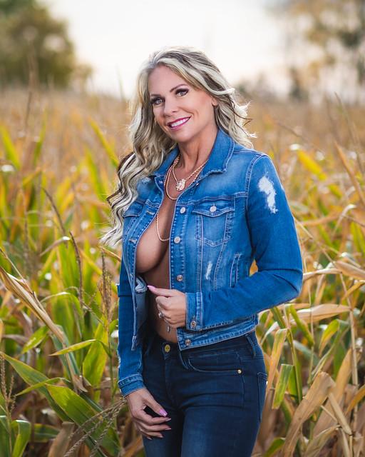 Girl in a Farmers Field