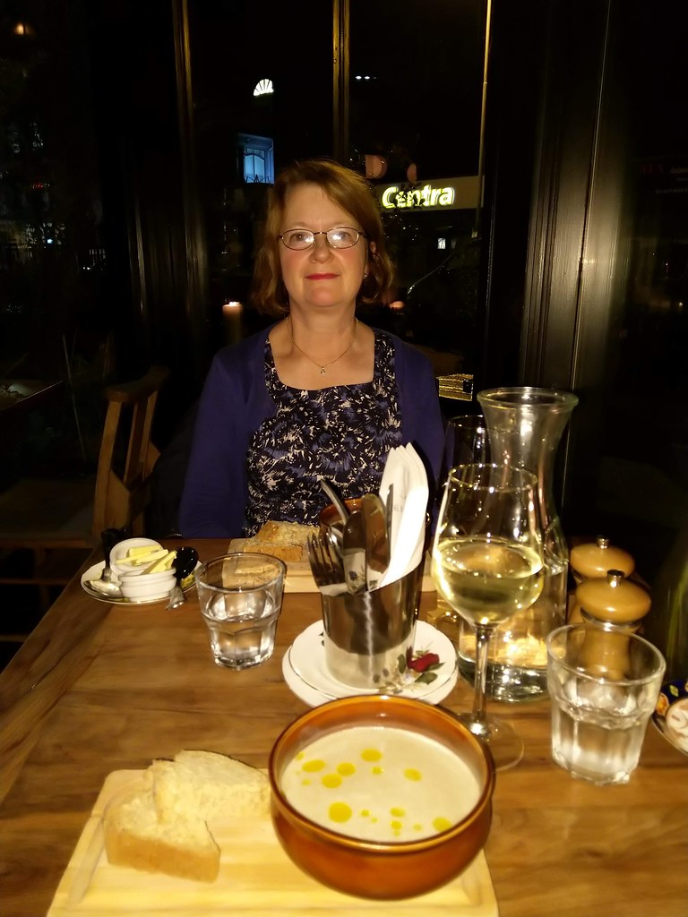 Dining at the Barking Dog Bistro, Belfast