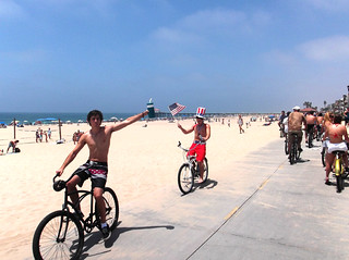 Manhattan Beach - 4th July 2011 - Beach Cyclists