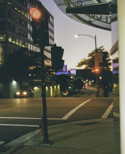 Fall downtown night