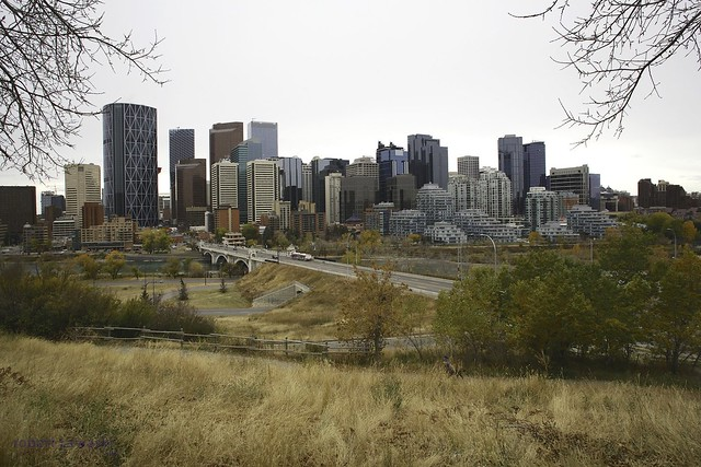 Calgary just before the snow