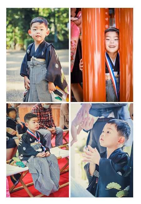 5才の男の子の七五三 挙母神社 愛知県豊田市