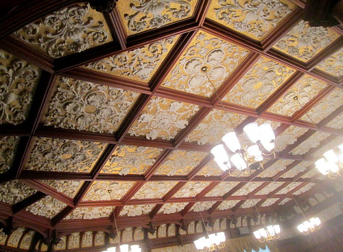 Bletchley Park, Mansion ornate ceiling