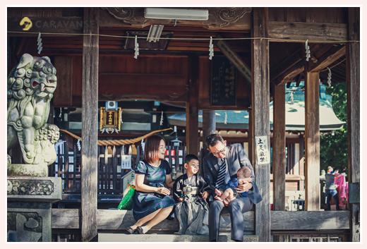 挙母神社で七五三 愛知県豊田市 家族の写真