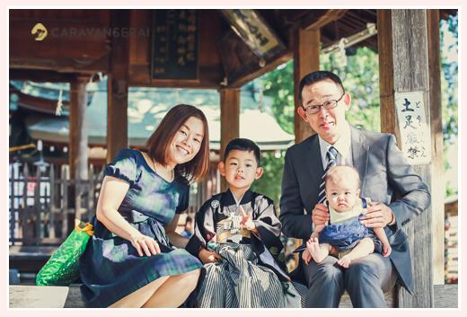 愛知県豊田市の挙母神社で七五三 ロケーション撮影