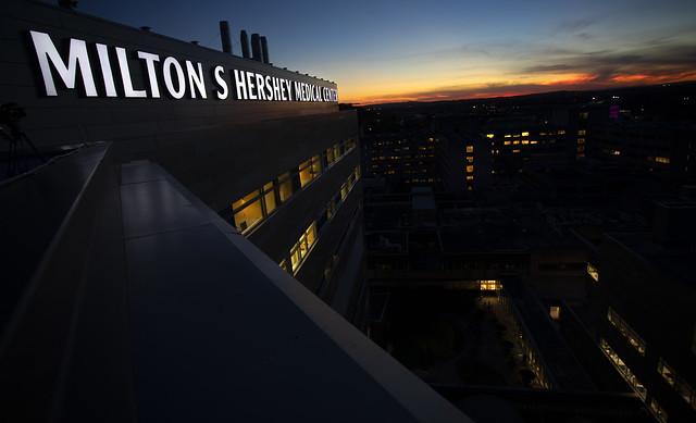 Hershey Medical Center 50th Anniversary Sign Lighting