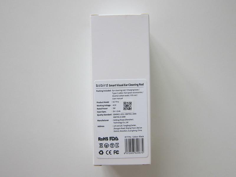 Bebird X17 Pro - Box Back