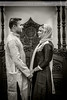 Muslim Couple in Black and White