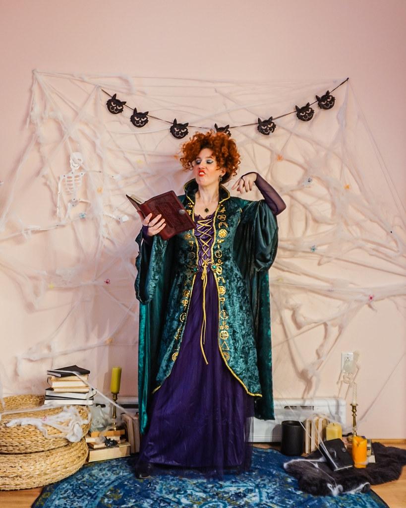 Hocus Pocus Halloween Costume | Sanderson Sisters Costumes | Winifred Sanderson | Sanderson Witches | Girl Group Halloween Costume | Halloween Costumes College | 2020 Halloween DIY