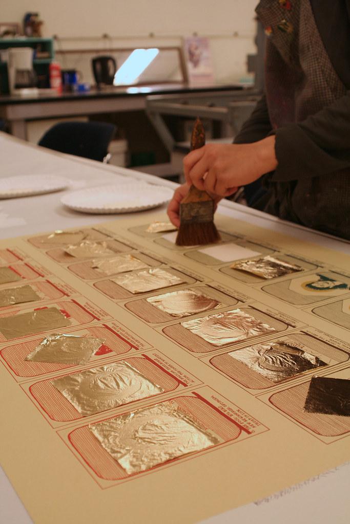 metallic leaf process