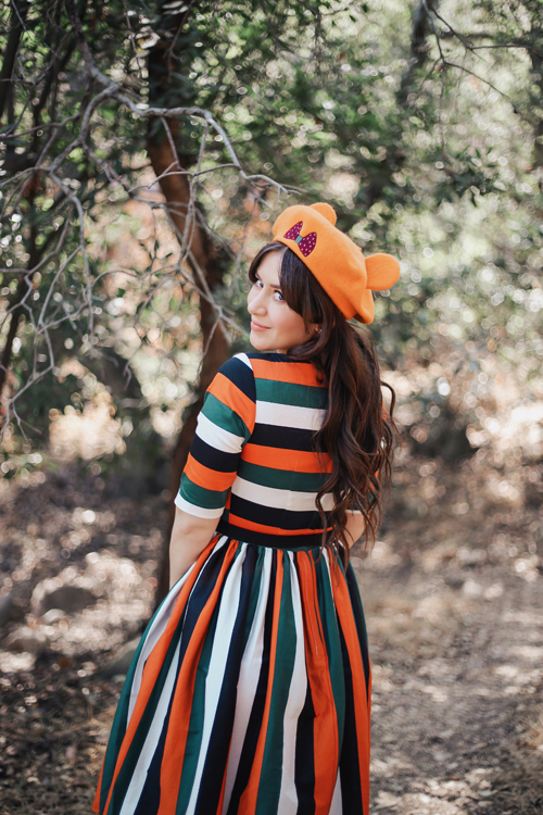 Harvey's Mini Pumpkin Convertible Crossbody Collectif Amber-Lea Pumpkin Stripe Swing Dress