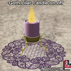Goth Lilac candle on-off