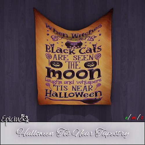 Epicine - Halloween 'Tis Near Tapestry Ad