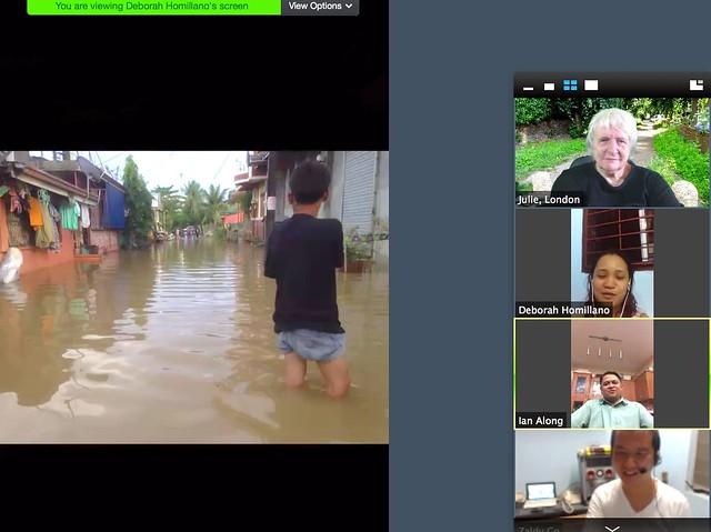 Online, after flood  Philippines