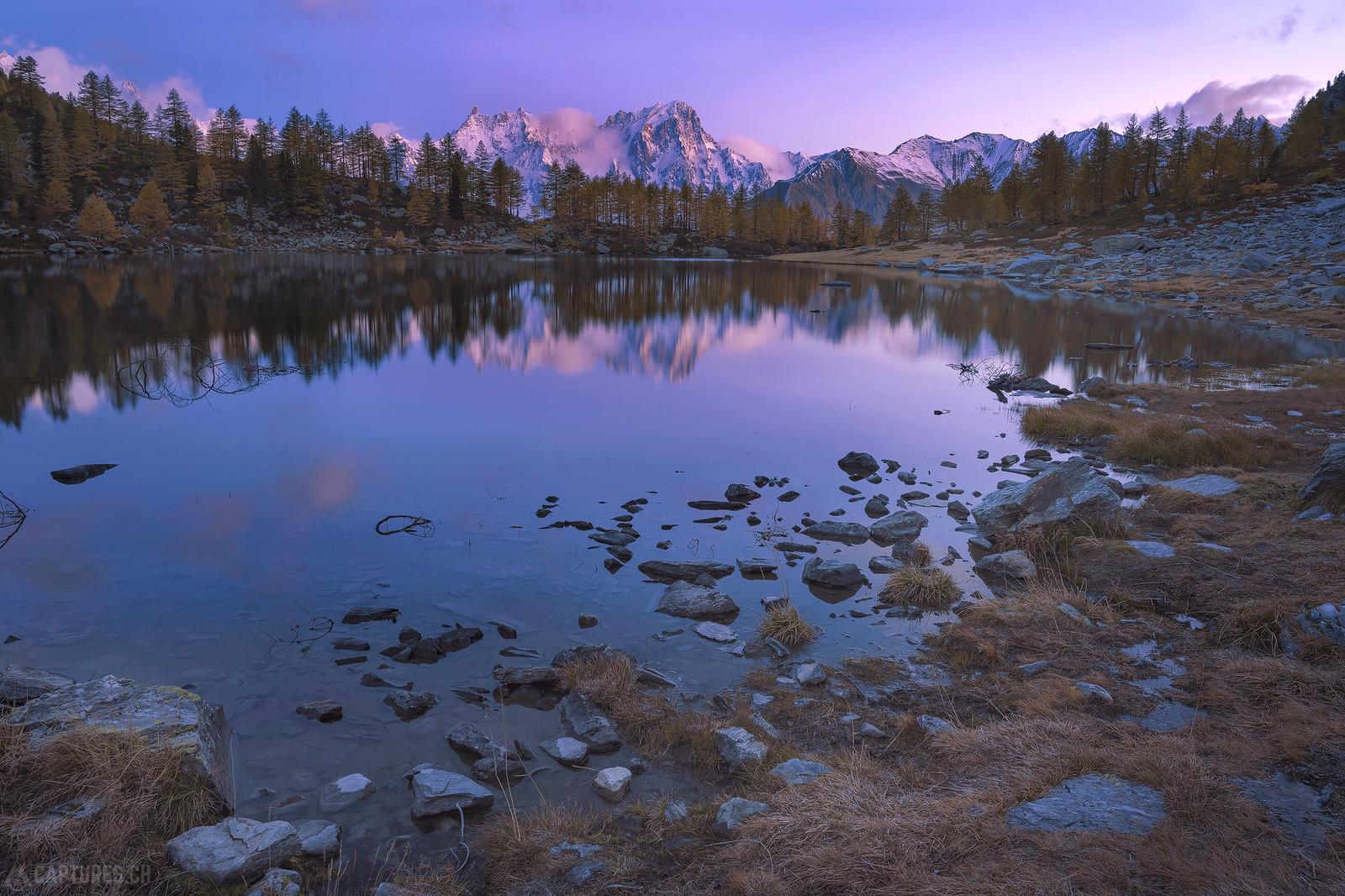 Dawn at the lake - Lago d'Arpy